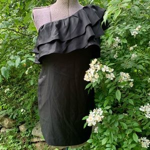 Apostrophe Black Ruffle Dress